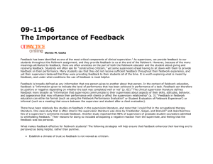 09-11-06 The Importance of Feedback