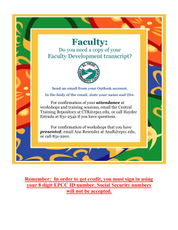 Faculty:  Faculty Development transcript? Do you need a copy of your