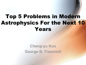 Top 5 Problems in Modern Astrophysics For the Next 10 Years Cheng-yu Kuo