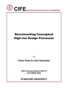 CIFE  Benchmarking Conceptual High-rise Design Processes