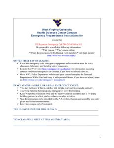 Health Sciences Campus Emergency Response Plan