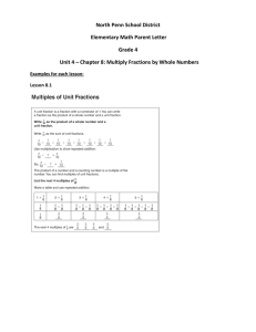 North Penn School District Elementary Math Parent Letter Grade 4