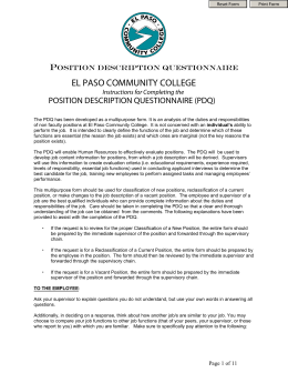 Professional courtesy el paso community college for Position description questionnaire template