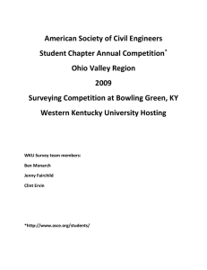 American Society of Civil Engineers Student Chapter Annual Competition Ohio Valley Region 2009