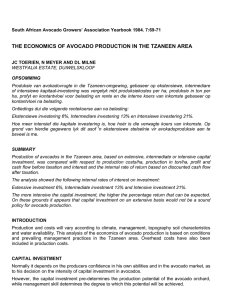 THE ECONOMICS OF AVOCADO PRODUCTION IN THE TZANEEN AREA