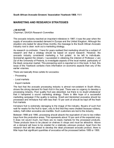 MARKETING AND RESEARCH STRATEGIES