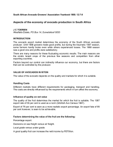 Aspects of the economy of avocado production in South Africa