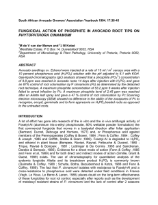 FUNGICIDAL ACTION OF PHOSPHITE IN AVOCADO ROOT TIPS ON PHYTOPHTHORA CINNAMOMI