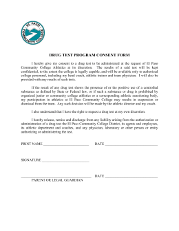 DRUG TEST PROGRAM CONSENT FORM