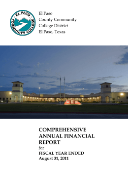 COMPREHENSIVE ANNUAL FINANCIAL REPORT El Paso