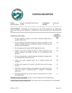 POSITION DESCRIPTION