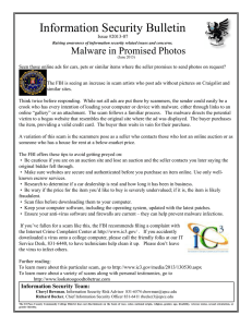 Information Security Bulletin Malware in Promised Photos