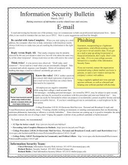Information Security Bulletin E-mail March, 2012