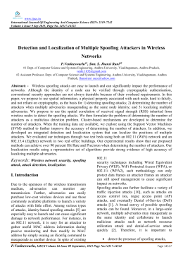Detection and Localization of Multiple Spoofing Attackers in Wireless Networks P.Venkteswarlu