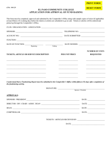 EL PASO COMMUNITY COLLEGE APPLICATION FOR APPROVAL OF FUND RAISING PRINT FORM