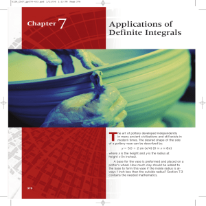 7 T Applications of Definite Integrals