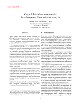 Coign: Efficient Instrumentation for Inter-Component Communication Analysis