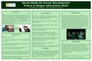 T Social Media for Career Development: A Door to Deeper Information Skills Overview:
