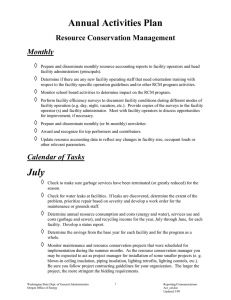 Annual Activities Plan Resource Conservation Management Monthly 