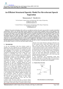An Efficient Structured Sparsity Model For Reverberant Speech Separation Khamarunnisa P.