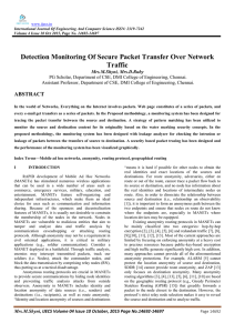 Detection Monitoring Of Secure Packet Transfer Over Network Traffic