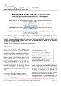 Ontology-Based Multi-Document Summarization.  MITCOE,,Savitribai Phule Pune University,Pune, Maharashtra,India.