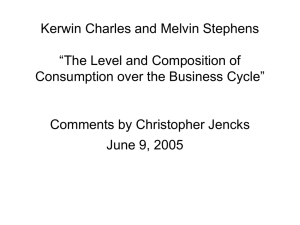 "Kerwin Charles and Melvin Stephens ""The Level and Composition of"
