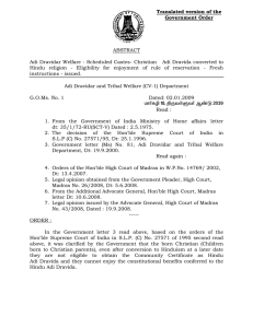 Translated version of the Government Order ABSTRACT