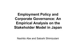 Employment Policy and Corporate Governance: An Empirical Analysis on the