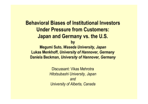 Behavioral Biases of Institutional Investors Under Pressure from Customers: