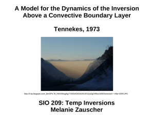 A Model for the Dynamics of the Inversion Tennekes, 1973