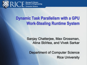Dynamic Task Parallelism with a GPU Work-­Stealing Runtime System