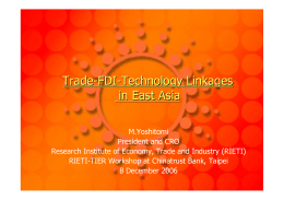 Trade - FDI Technology Linkages