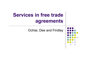 Services in free trade agreements Ochiai, Dee and Findlay