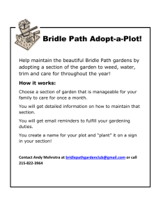 Bridle Path Adopt-a-Plot!