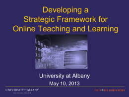 Developing a Strategic Framework for Online Teaching and Learning
