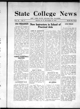 State College News New Instructors in School of Practical Arts 1918 PEDAGOGUE