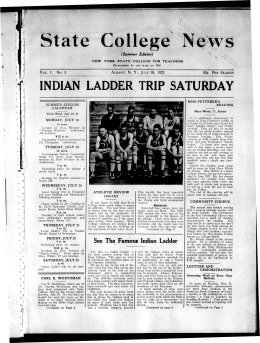 State College News INDIAN LADDER TRIP SATURDAY (Summer Edition)