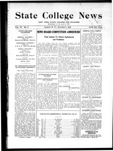 State College News VI. No. 3 N. Y., 1921 $3.00