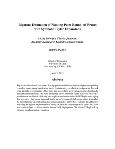 Rigorous Estimation of Floating-Point Round-off Errors with Symbolic Taylor Expansions Abstract