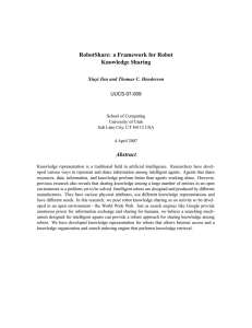 RobotShare: a Framework for Robot Knowledge Sharing Abstract