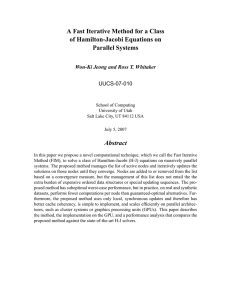 A Fast Iterative Method for a Class of Hamilton-Jacobi Equations on Abstract