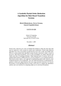 A Symbolic Partial Order Reduction Algorithm for Rule Based Transition Systems Abstract