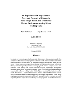 An Experimental Comparison of Perceived Egocentric Distance in Real, Image-Based, and Traditional
