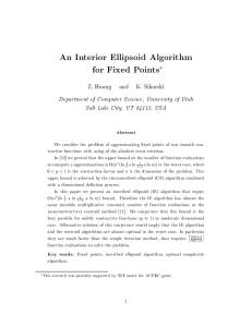 An Interior Ellipsoid Algorithm for Fixed Points