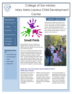 College of San Mateo Mary Meta Lazarus Child Development Center Inside Small Prints