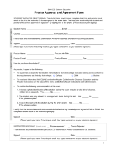 Proctor Approval and Agreement Form