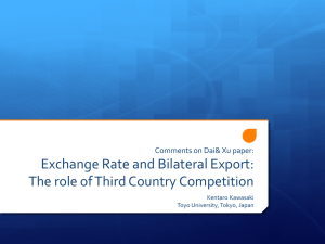Exchange Rate and Bilateral Export: The role of Third Country Competition