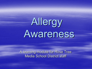 Allergy Awareness  A learning module for Rose Tree