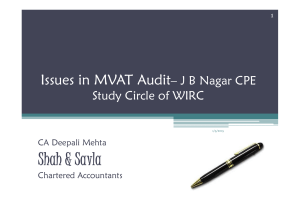 Sh h & S l Shah & Savla Issues in MVAT Audit